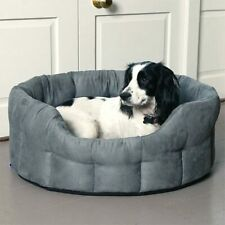 Luxury Suede Dog Bed - Medium - Machine Washable