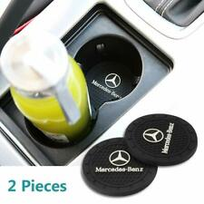 Fit Mercedes Benz 2 Pcs 2.75 inch Car InteriorAnti Slip Cup Mat S E C W A Series