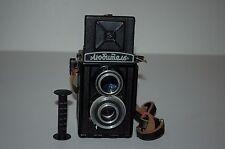 Lomo Lubitel-1 Vintage Soviet TLR Medium Format Camera & Case. Serviced. 1950.