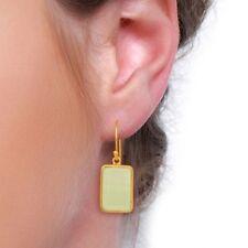Prehnite Chalcedony Gemstone Dangle 925 Sterling Silver Earrings Jewelry