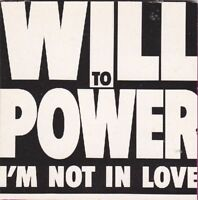 """Will To Power - I'm not in Love - rare 3"""" CD Single von 1989"""