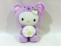 Hello Kitty Hokkaido Lavender Bear Sanrio Plush Doll Toy Limited Japan 9""