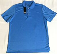 Adidas Golf Mens S/S Polo Shirt Size Large Solid Blue NEW NWT