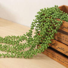 1x Artificial Succulent Ivy Leaf Fake Plants String Of Pearl Hanging Wall