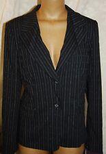 Nordstrom Caslon Size 16 Lined Black w/fine stripe Suit Jacket Blazer NWT RP $89