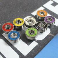 8x Bearing For 4 Wheeled Wheel Roller Skateboard High Speed Skate  Chrome Steel