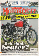 NEW! The Classic MOTORCYCLE November 2015 Gilera Saturno Greeves +Free COVENTRY