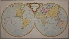 Ie Mappe-Monde - Seltene Weltkarte von Jean Palairet 1755 - Rare world map