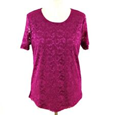 SPECIAL COLLECTION Blouse 12 14 Pink Party Floral Lace Short Sleeve Occasion Top