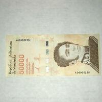 January 2019 Venezuela 50000 Bolivares Soberanos