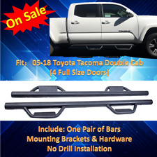 Nurf Bars For 05-17 Toyota Tacoma CREW Cab Hoop Side Steps Running Boards