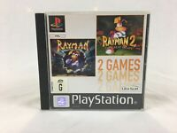 Rayman 1 & Rayman 2 The Great Escape - With Manual - PS1 - Playstation 1 - PAL