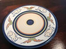 louisville stoneware Rabbits And Carrots Child's Plate