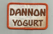 VINTAGE DANNON YOGURT PATCH DELIVERY DRIVERS  HORSHAM PA DAIRY SEWN  3 3/4 INCHE