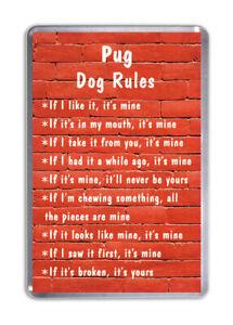 Mops Hund Regeln, Lustiger Kühlschrank-magnet Haustier Tierliebhaber Geschenk