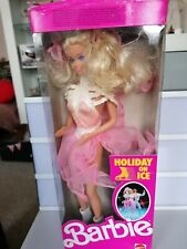 Vintage 1989 Boxed Barbie ice capades Holiday On Ice Doll complete original