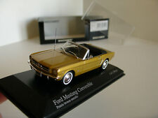 1/43 FORD MUSTANG CONVERTIBLE 1964 GOLD METALLIC by MINICHAMPS