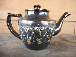 Vintage used Tea Pot Teapot poor condition large chip small chips needs cleaning