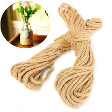 10M Twisted Burlap Jute Twine Rope Thick Natural Hemp Cord Sisal Rope 6mm