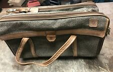 VINTAGE HARTMAN TWEED LEATHER CARRY ON DUFFLE TRAVEL BAG WEEKENDER Luggage Tag