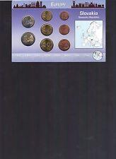 Slovakia Euro, 2009 8 Coin Set