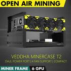 VEDDHA T2 6-BAY Standard Edition 6 GPU Mining Rig Case Open Air Frame