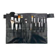 NEW Leather cosmetic brush case can hold 30pcs makeup brush empty belt bag