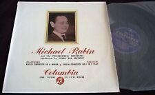 MICHAEL RABIN - GLAZUNOV & PAGANINI LP COLUMBIA 33CX 1281 B/G UK ED1 RARE