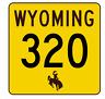 Wyoming Highway 320 Sticker R3511 Highway Sign