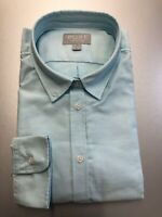 New Size 16 Women's Turq Blue Oxford Cotton Classic Fit Shirt - PURE Collection