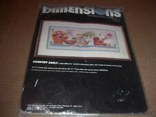 "Dimensions Stamped Cross Stitch Kit #3082  ""Country Shelf"" 1988 Linda Gillum NIP"