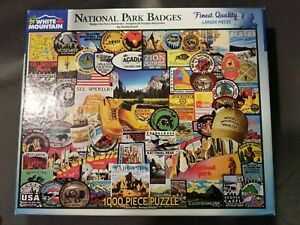 White Mountain Park Badges1000 Piece Jigsaw Puzzle Perfect For Family Fun!