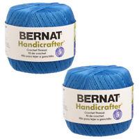 2pk Bernat Handicrafter 100% Acrylic Yarn #1 Super Fine Knit Crochet Skeins Soft