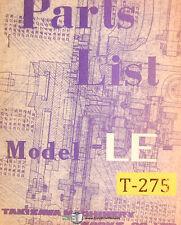 TAKISAWA Le, Drehbank Operationen und Teile Handbuch 1968
