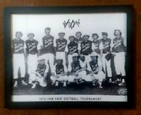 "GEORGE JONES hand-signed 1975 ""Fan Fair""  Softball Team photo (Authentic) w-COA"