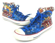 Converse Dc Comics Man of Steel Superman Hi Top Shoes Mens 6 Womens 8 EUC