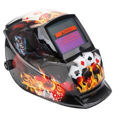 Auto-Darkening Pro Solar Powered Mask Welding Helmets DIN4/9-13 Gamblers Black