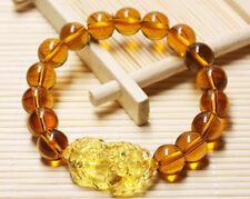 Feng Shui 10mm Topaz Stone Pi Yao /Pi Xiu Bracelet For Wealth Luck