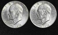 $1 One Dollar 1976 P D Ike Eisenhower UNC BU Copper-Nickel Lustrous Bicentennial