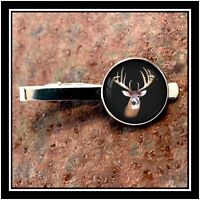 Whitetail Deer Buck Antlers Photo Tie Clip Clasp 🎁Free Shipping