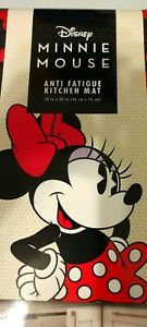 Disney MINNIE MOUSE Anti-Fatigue Cushioned Padded Kitchen Mat 18x30 Red Dot