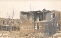 D9/ Omaha Nebraska Ne RPPC Postcard c1910 Storm Disaster Mengadont Appartments
