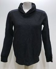 Armani Exchange Black/blue Merino Women Sweatshirt/ongsleeve Blouse Size Large
