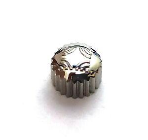Corona Crown ZENITH diameter 5 mm depth 3.4 mm Screw 0.9 Tube 2mm Silver Acciaio
