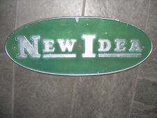 Vintage New Idea farm machinery Implement Emblem sign