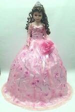NEW Pink 28 inch My 15 XV Anos Quinceanera Sequin Porcelain Umbrella Muñeca Doll