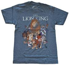 Disney Lion King Distressed Art Navy Heather Men's T-Shirt New