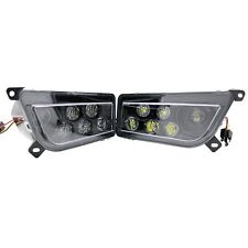 New 2 pc Set Black RZR 1000 RZR1000 S LED Headlight Conversion Kit For Polaris