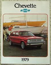CHEVROLET CHEVETTE USA Car Sales Brochure 1979 #3809