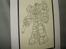 Transformer Devastator   Pen Ink Art Poster Exhibit